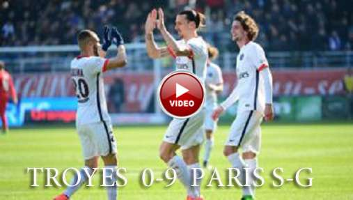 Troyes 0-9 Paris S-G